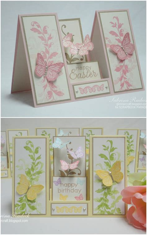 tutorial carding aspiring to creativity double sided step card tutorial