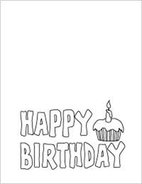 birthday coloring card template letters happy birthday card to color