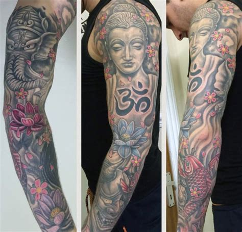 hindu tattoos for men 90 om designs for spiritual ink ideas