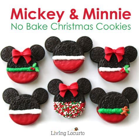 mickey minnie mouse christmas cookies no bake disney