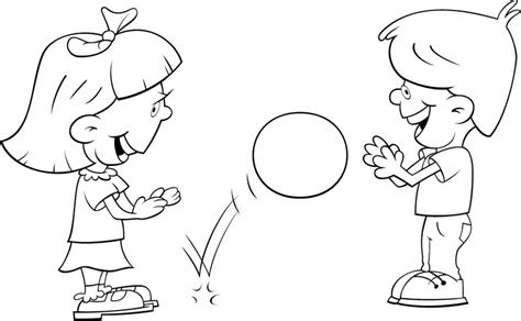 children playing with ball coloring color area