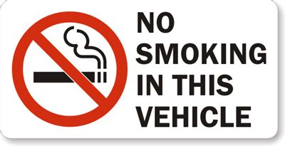 no smoking sign for vehicles no smoking stickers no smoking labels