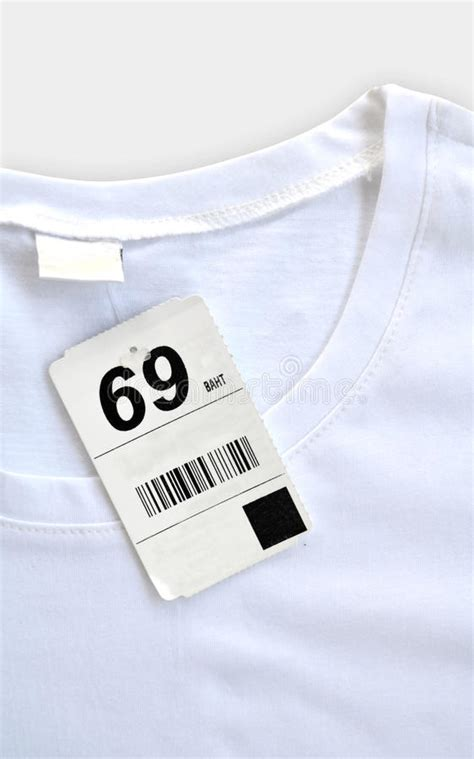 White Shirt Tag by White T Shirt With Price Tag Stock Photo Image Of Cotton Background 19672372