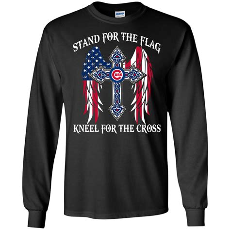 chicago stand chicago cubs stand for the flag kneel for the cross shirt sweatshirt