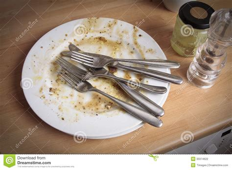 Kitchen Forks And Knives Dirty Plates And Cutlery Stock Photography Image 33374622