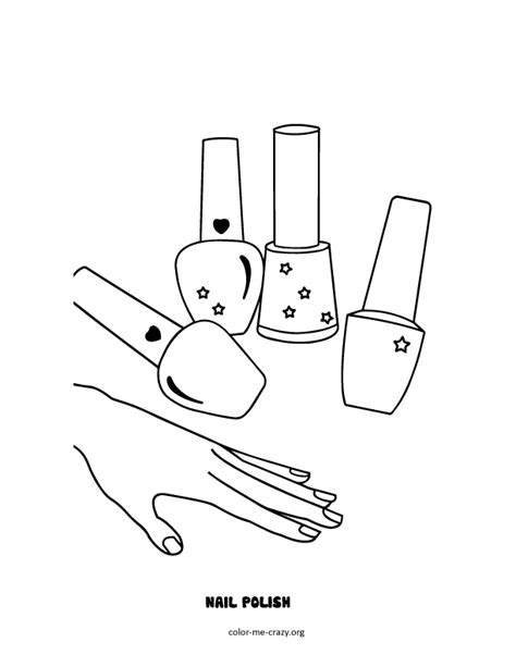 free coloring pages of nail