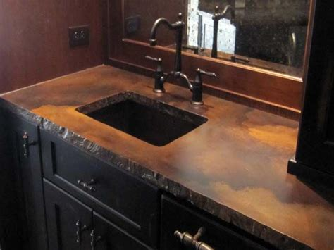 Cement Bar Top by 17 Best Ideas About Stained Concrete Countertops On