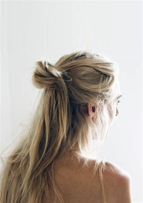 half up half down hairstyles knot blonde half up top knot hair hairstyles summer beauty