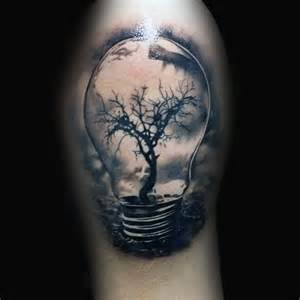 75 light bulb tattoo designs for men bright ink ideas