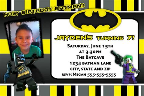 batman invitation card template batman birthday invitations template best template
