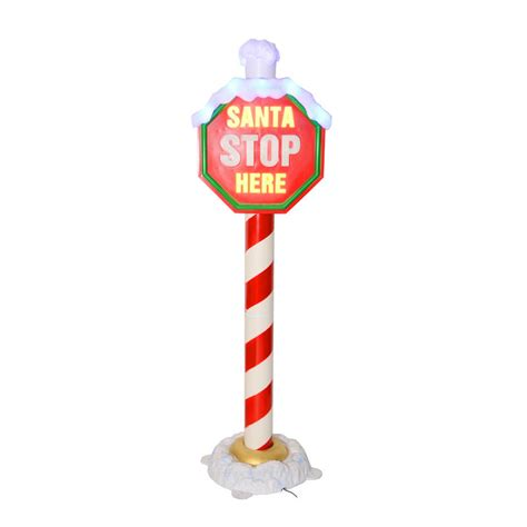 1 6m flashing light up quot santa stop here quot christmas sign on