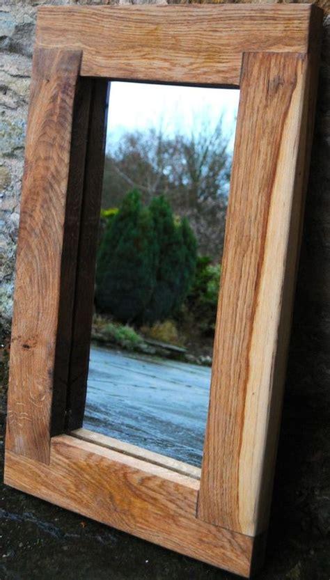 Handmade Mirror Frames - wooden mirror handmade oak frame rustic chunky 6mm