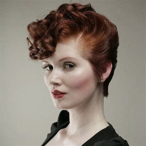 Retro Hairstyles by Vintage Curly Haircuts Haircuts Models Ideas