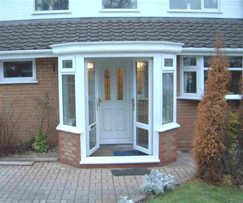Front Porch Doors This Small Enclosed Porch With Glass Doors Prefer A Pitched Roof On It House Ideas