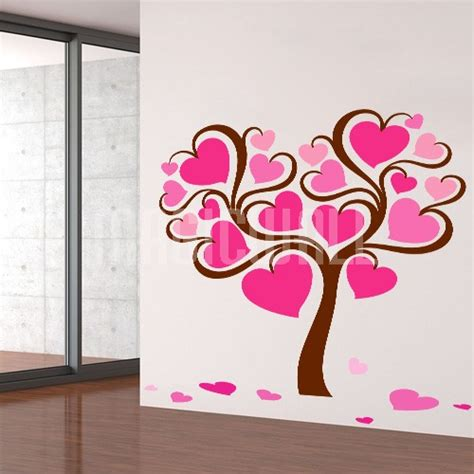 hearts wall stickers wall decals 2017 grasscloth wallpaper