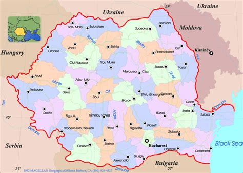 map of romania political map of romania lawas