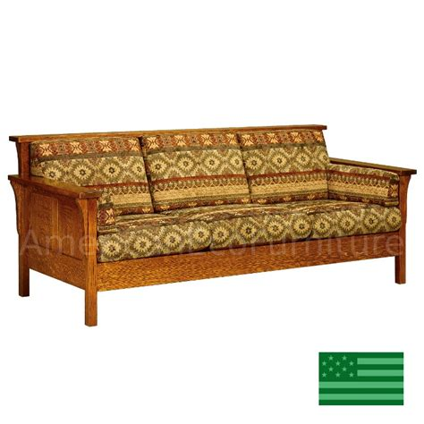 sofas made in usa amish honeydale panel sofa solid wood made in usa american eco furniture
