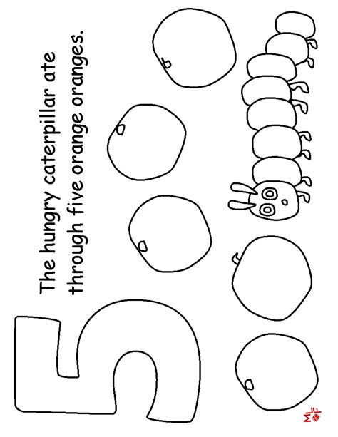 The Very Hungry Caterpillar Colouring Learningenglish Esl Hungry Caterpillar Coloring Pages