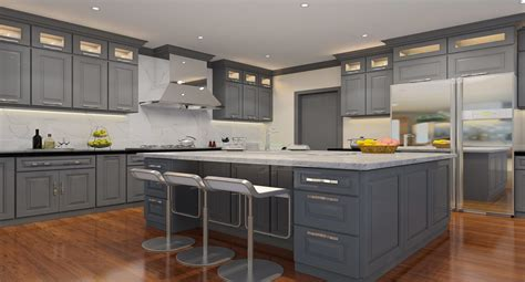 Belmont Kitchen Cabinets by Belmont Gilbraltar Gray Amf Cabinets