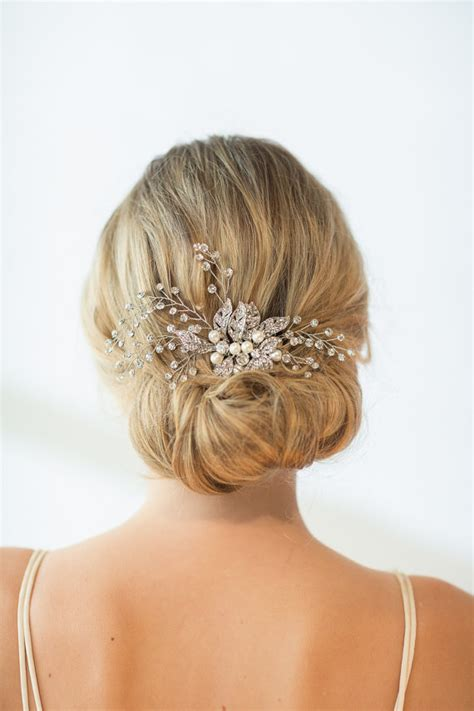 Wedding Hair Accessories Chagne by Wedding Hair Comb Wedding Hairpiece Bridal Comb