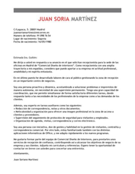 Modelo Curriculum Vitae Higienista Dental Modelo De Carta De Presentaci 243 N Recepcionista Recepcionista Ejemplo Livecareer