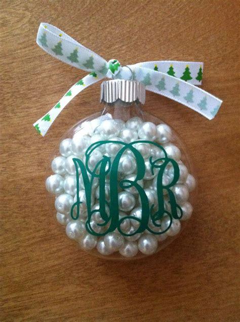 diy monogram ornament craft clear ornaments monograms