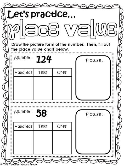 2nd Grade Place Value Worksheets by The Wears Prada Place Value Student Booklet