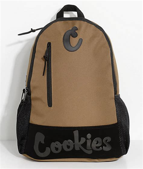 Cookie Backpack cookies thin mint moss brown smell proof backpack