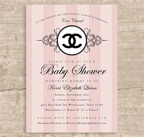 coco chanel wedding invitations 86 best chanel baby shower images on