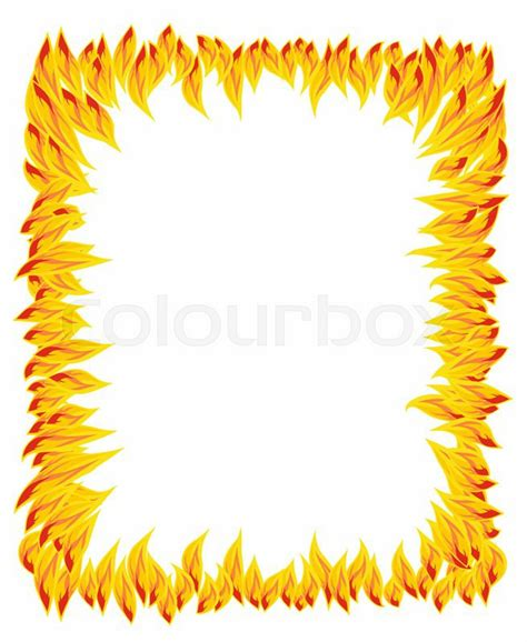 pattern heat vector fire flame fire pattern stock vector colourbox