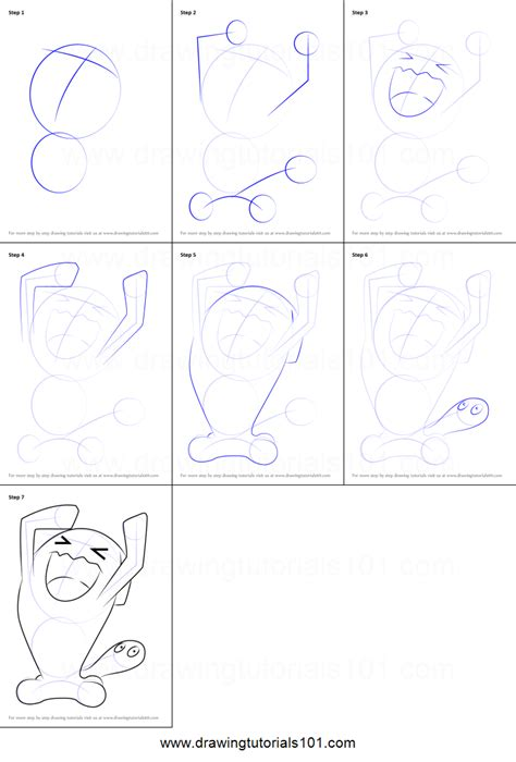 doodle drawings how to how to draw wobbuffet from printable step by step