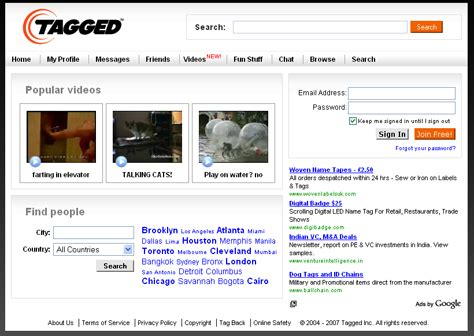 Tagged Search Social Networking Tagged