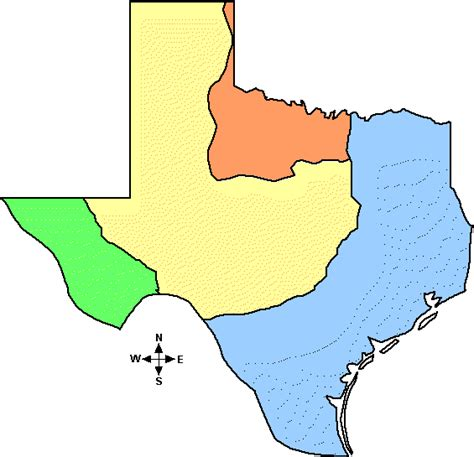 4 regions of texas map maps texas map 4 regions