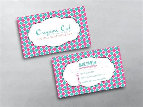 origami card template origami owl business card 20