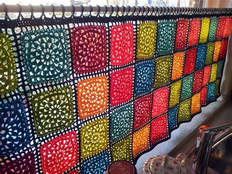 Yarn Curtains Mes Favoris Tricot Crochet Mod 232 Le Gratuit Un Rideau