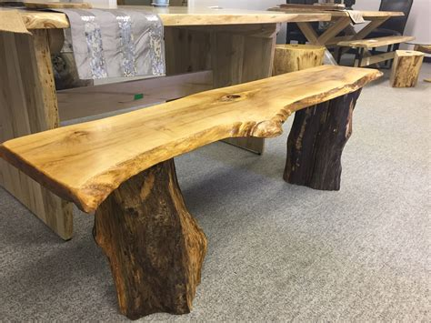 rustic tables and benches live edge bench with rustic legs rustic decor stump