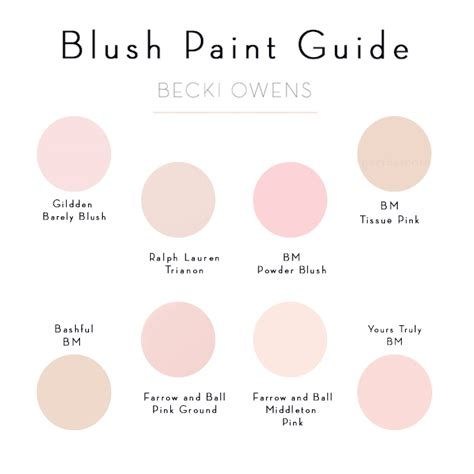 what color is blush blush pink paint guide becki owens