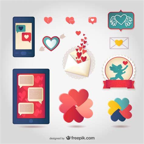 imagenes de amor para recortar conjunto de stickers de amor descargar vectores gratis