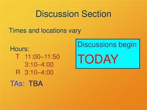 discussion section ppt welcome to physics 1050 powerpoint presentation id