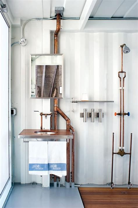 Exposed Bathroom Plumbing 10 Favorites Exposed Copper Pipes As Decor By