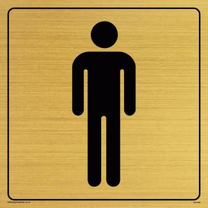 male toilet symbol toilet door sign from safety sign