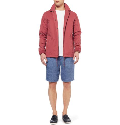 Jaket Bomber Croope Attention saturdays nyc cooper lightweight cotton jacket in for