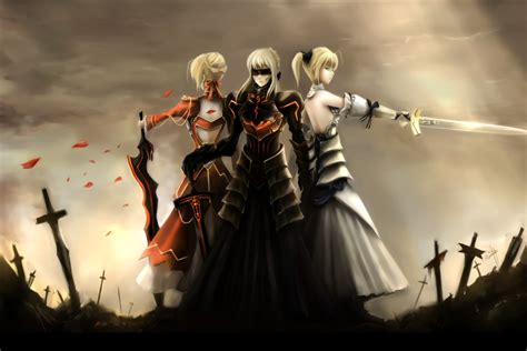 anime fate series anime anime girls fate series saber alter saber lily