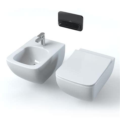 hänge wc und bidet set villeroy boch legato 3d model