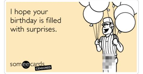 Birthday Ecard Meme - birthday surprise flirt censored package funny ecard