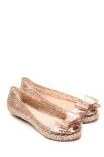 glaze rose gold bow glitter jelly flats cicihot flats