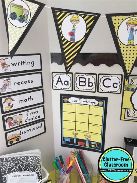 construction theme classroom decorations construction themed classroom ideas printable