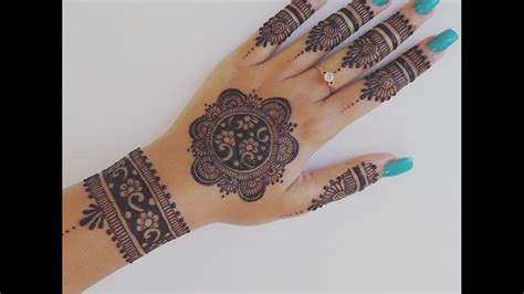 easy henna design   hands youtube
