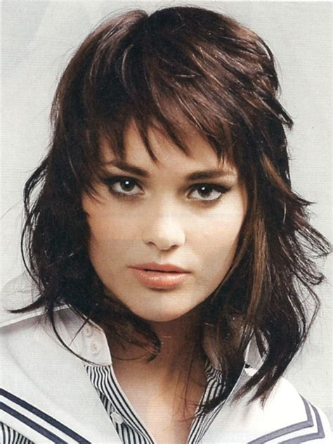 shaggy hair chubby cheeks shag hairstyles for round faces long shag haircut image