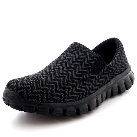 Casual Walking Shoes Code H 14 mens lightweight walking sports mesh casual mesh slip on loafer trainers uk 6 14 ebay